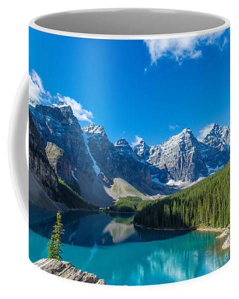 Photography Coffee Mug featuring the photograph Moraine Lake At Banff National Park by Panoramic Images
