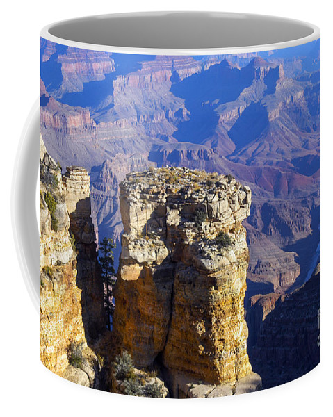 Grand Canyon National Park Arizona Parks Moran Point South Rim Canyons Rock Formations Rock Formation Landscape Landscapes Coffee Mug featuring the photograph Moran Point by Bob Phillips