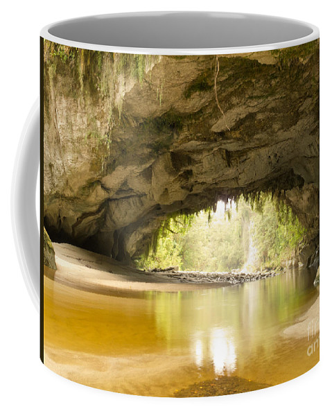 South Island Coffee Mug featuring the photograph Moria Gate Arch In Opara Basin On South Island In Nz by Stephan Pietzko