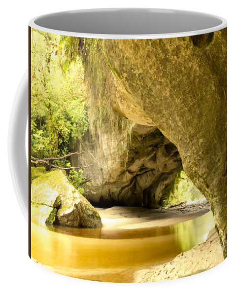 South Island Coffee Mug featuring the photograph Moria Gate Arch In Opara Basin On South Island Of Nz by Stephan Pietzko
