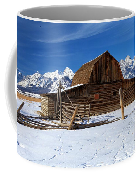 Grand Teton National Park Coffee Mug featuring the photograph Mormon Row Barn by Adam Jewell