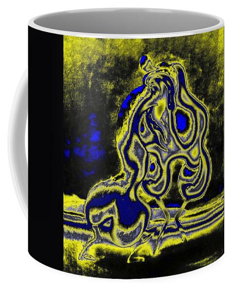Genio Coffee Mug featuring the mixed media Morning Ardour by Genio GgXpress
