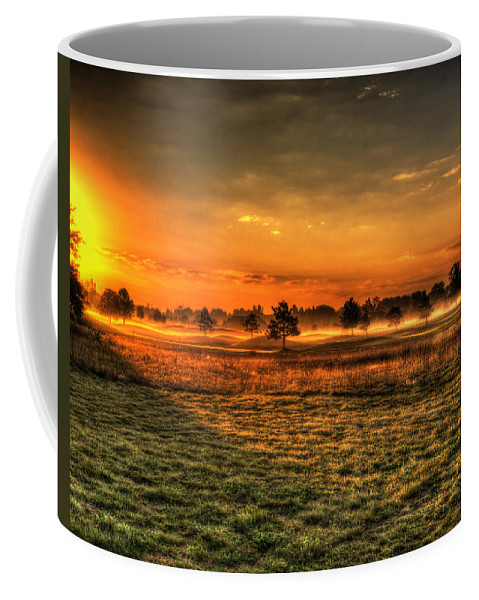 Golf Coarse Coffee Mug featuring the photograph Morning Arrives At Foxfire by Thomas Young