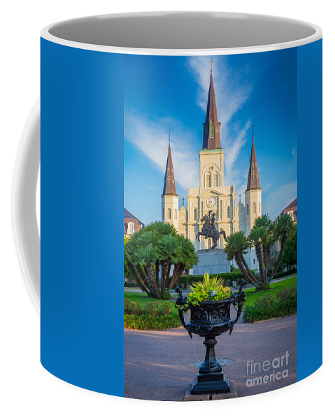 America Coffee Mug featuring the photograph Morning At Jackson Square by Inge Johnsson