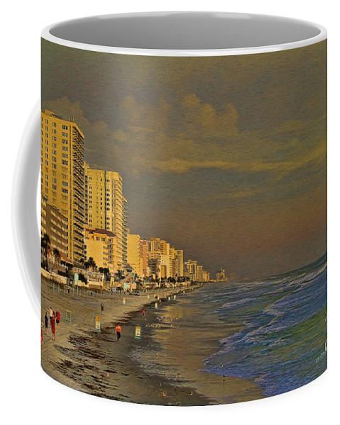 Beach Coffee Mug featuring the photograph Morning Beach Walk by Deborah Benoit