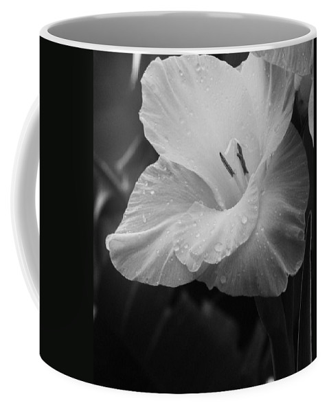 Black And White Flower Coffee Mug featuring the photograph Morning Dew by Marianne Jimenez