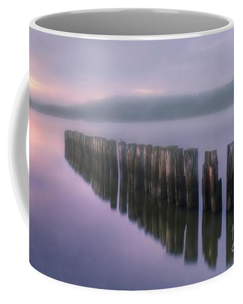 Art Coffee Mug featuring the photograph Morning Fog by Veikko Suikkanen