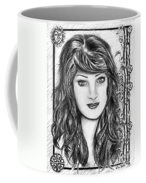 Morning Glory Coffee Mug featuring the drawing Morning Glory by Peter Piatt