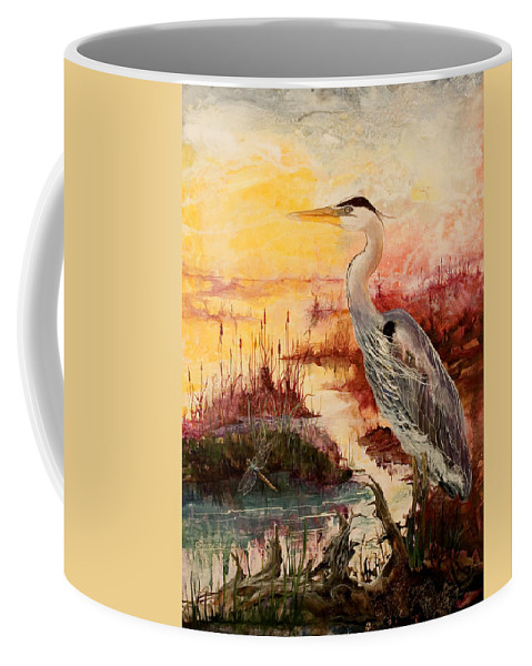 Sunrise Coffee Mug featuring the painting Morning Has Broken by Sherry Shipley