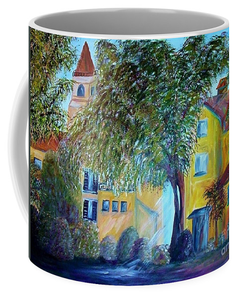 Tuscan Coffee Mug featuring the painting Morning In Tuscany by Eloise Schneider