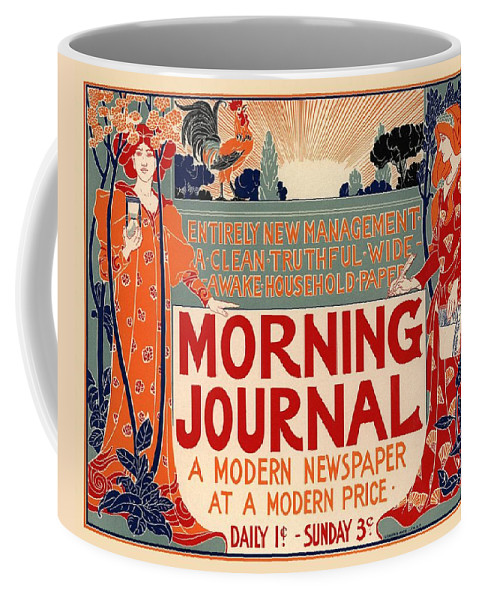 Poster Coffee Mug featuring the photograph Morning Journal by Gianfranco Weiss