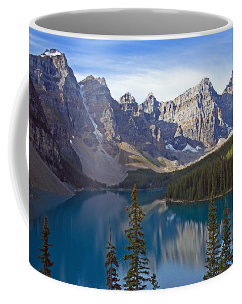 Moriane Lake Coffee Mug featuring the photograph Morning Light by Angie Schutt