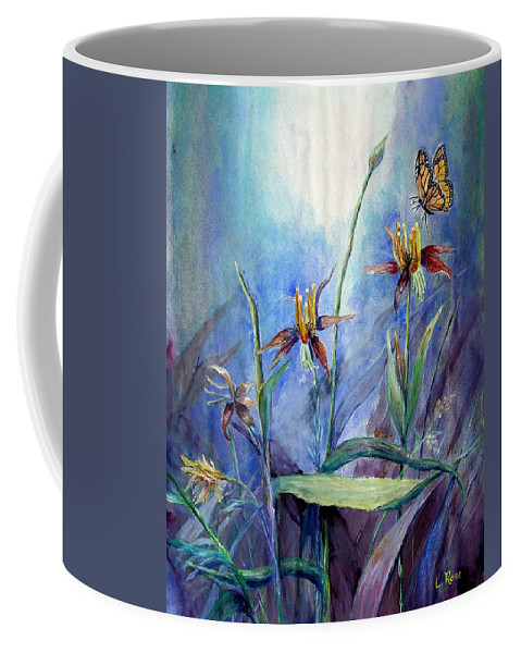 Butterfly Coffee Mug featuring the painting Morning Light by Loretta Luglio