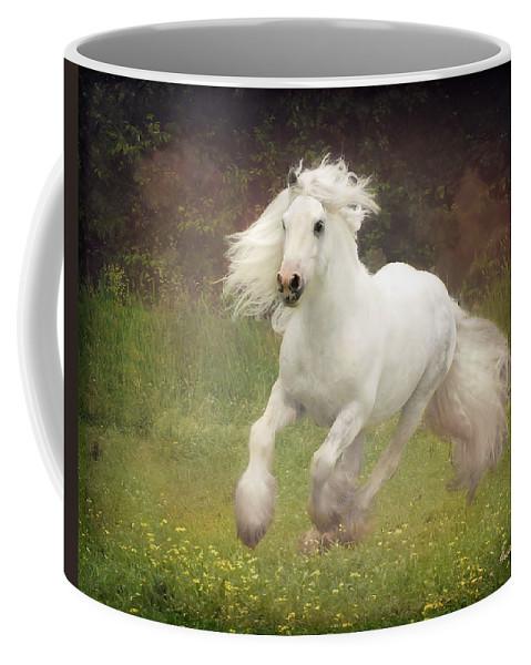 Horses Coffee Mug featuring the photograph Morning Mist C by Fran J Scott