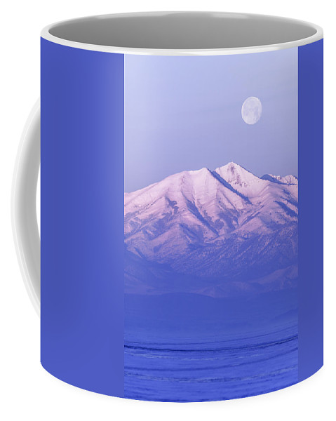 Morning Moon Coffee Mug featuring the photograph Morning Moon by Chad Dutson