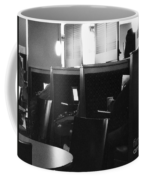 News Coffee Mug featuring the photograph Morning News - Monochrome by Frank J Casella