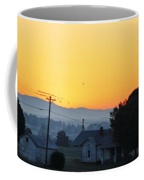 Morning On The Farm Coffee Mug featuring the photograph Morning On The Farm by Dan Sproul