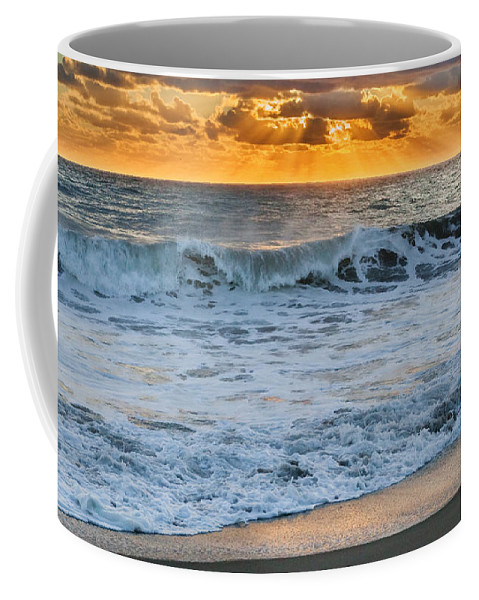 Cape Cod National Seashore Coffee Mug featuring the photograph Morning Rays by Bill Wakeley