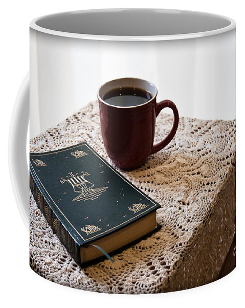Romantic Coffee Mug featuring the photograph Morning Read Series 3 by Robin Lynne Schwind