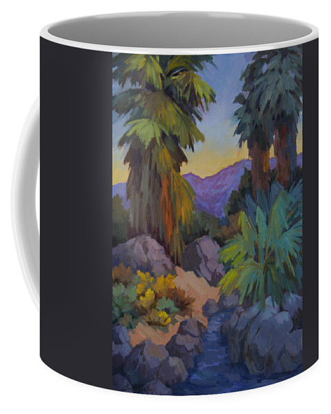 Desert Coffee Mug featuring the painting Morning Shade 2 by Diane McClary