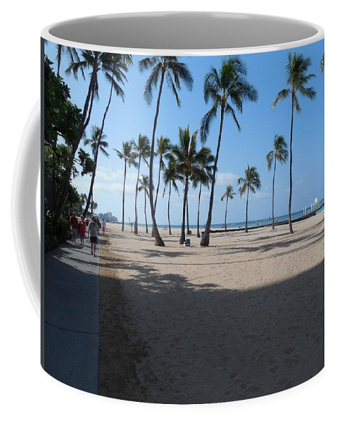 Beach Coffee Mug featuring the photograph Morning Stroll by Mike Niday