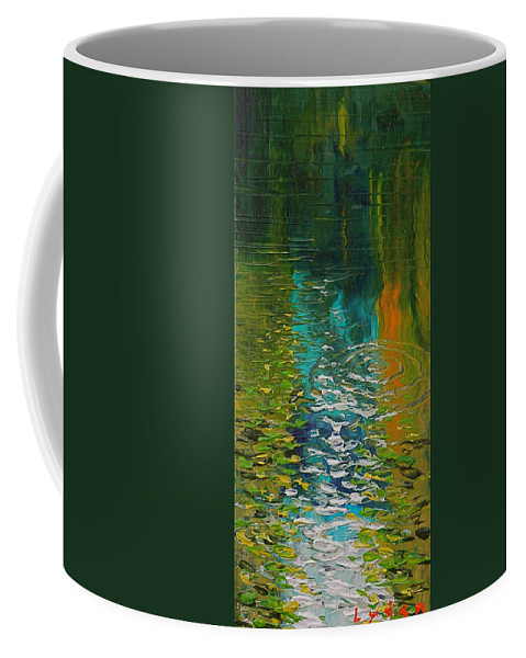 Water Coffee Mug featuring the painting Morrison Springs by Les Lyden