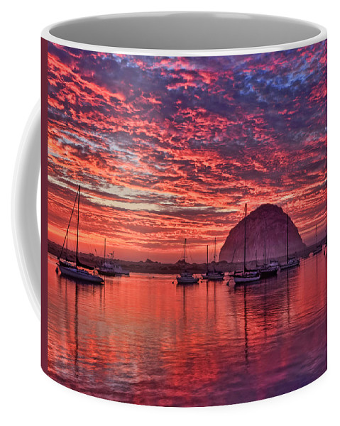 Beach Coffee Mug featuring the photograph Morro Bay On Fire by Beth Sargent