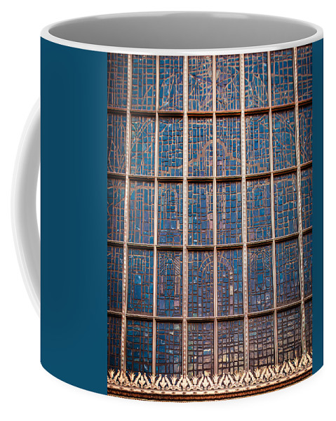 Architecture Coffee Mug featuring the photograph Mosaic Alamo In Glass by Melinda Ledsome