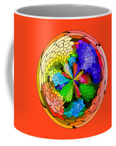 Abstract Coffee Mug featuring the photograph Mosaic Orb 2 by Liz Mackney