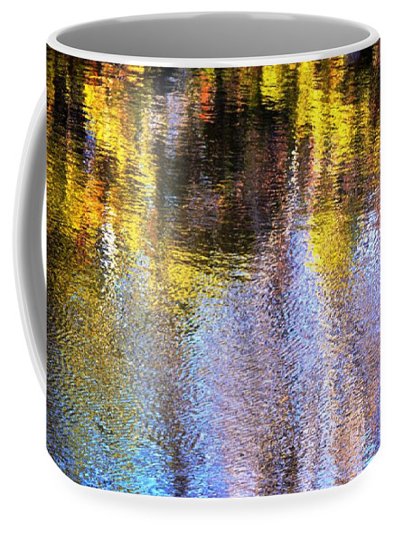 Reflections Coffee Mug featuring the photograph Mosaic Reflection At The River by Karen Majkrzak