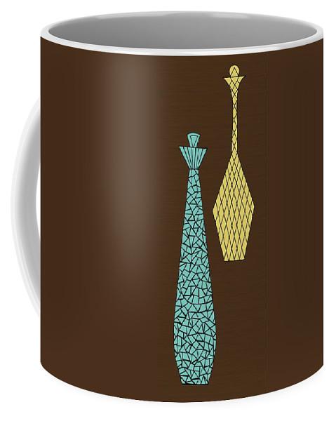 Mid Century Modern Coffee Mug featuring the digital art Mosaics 1 by Donna Mibus