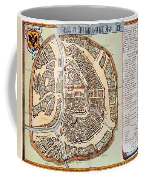 1662 Coffee Mug featuring the photograph Moscow: Map, 1662 by Granger