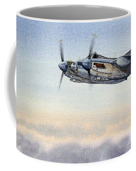 Mosquito Aircraft Coffee Mug featuring the painting Mosquito Aircraft by Bill Holkham