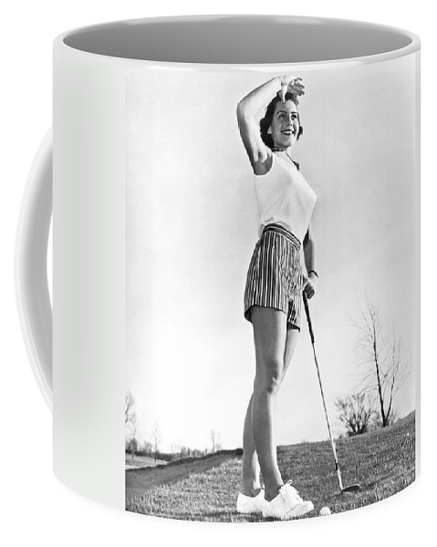 1950's Coffee Mug featuring the photograph Most Beautiful Golfer Of 1957 by Underwood Archives