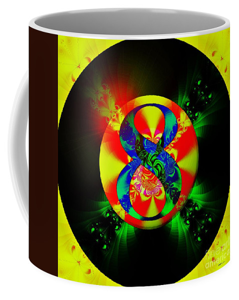 Fractal Art Coffee Mug featuring the digital art Most Likely by Elizabeth McTaggart