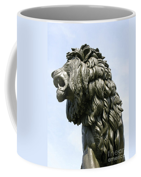 Statue Coffee Mug featuring the photograph Mostly Mane by Ann Horn