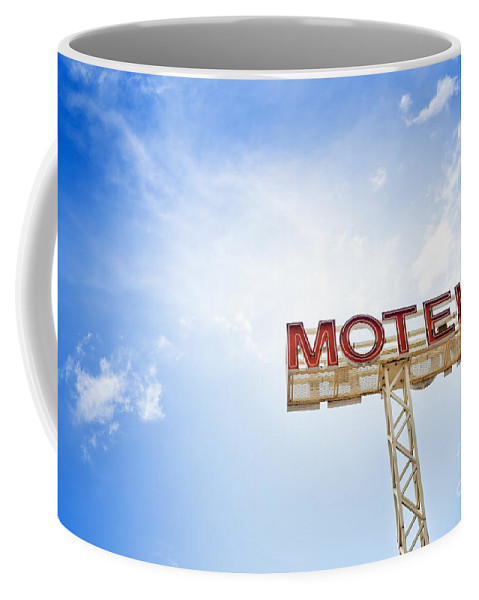 Abandoned Coffee Mug featuring the photograph Motel Sign by Tim Hester