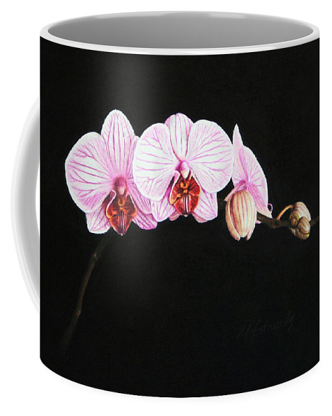 Moth Orchid Coffee Mug featuring the drawing Moth Orchid by Marna Edwards Flavell