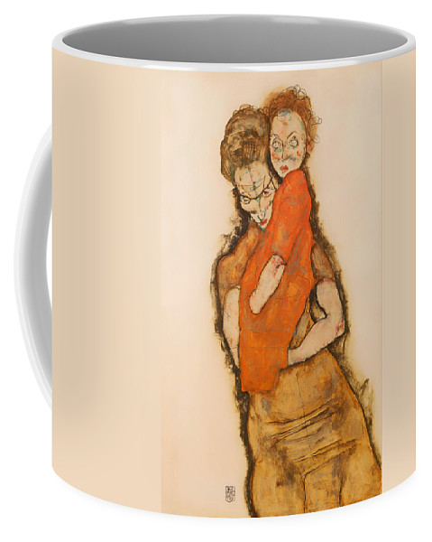 Painting Coffee Mug featuring the painting Mother And Child by Mountain Dreams