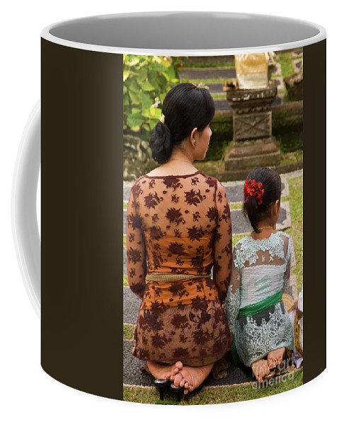 Indonesia Coffee Mug featuring the photograph Mother And Daughter by Rick Piper Photography