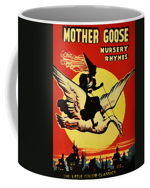 Mother Goose Coffee Mug featuring the digital art Mother Goose by Bill Cannon