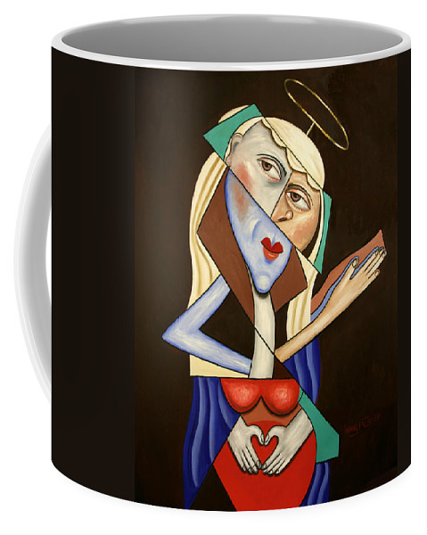 Mother Mary Coffee Mug featuring the painting Mother Mary by Anthony Falbo