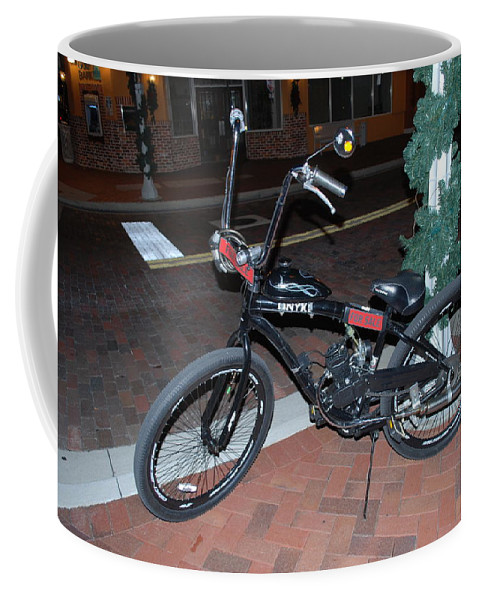 Downtown Ft.myers Coffee Mug featuring the photograph Motorized Bicycle by Robert Floyd