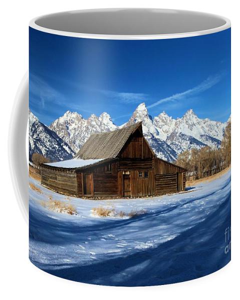 Grand Teton National Park Coffee Mug featuring the photograph Moulton Barn Closeup by Adam Jewell
