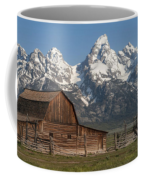 Grand Teton Coffee Mug featuring the photograph Moulton Barn - Grand Tetons I by Sandra Bronstein