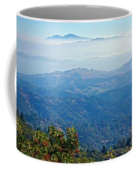 Mount Diablo From Mount Tamalpias Coffee Mug featuring the photograph Mount Diablo From Mount Tamalpias-california by Ruth Hager