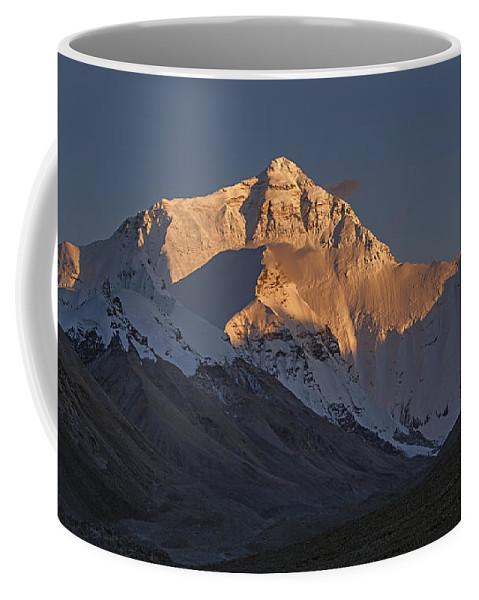 Everest Coffee Mug featuring the photograph Mount Everest At Dusk by Hitendra SINKAR