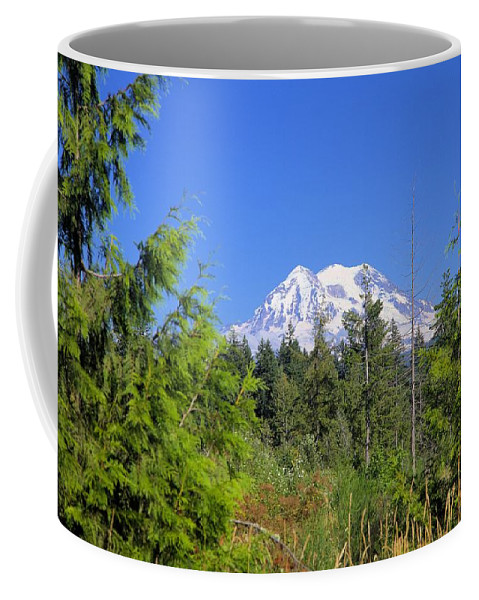 1992 Coffee Mug featuring the photograph Mount Rainier by Gordon Elwell
