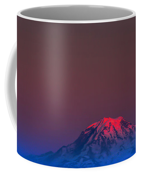 Mount Rainier Coffee Mug featuring the photograph Mount Rainier Sunset by David Patterson