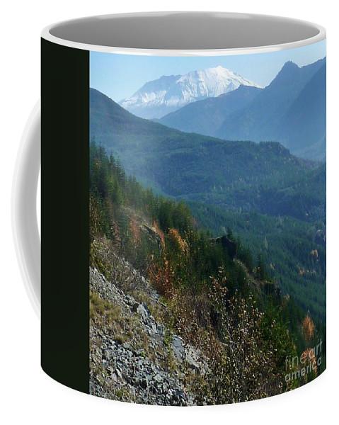 Mount Saint Helen's Majesty Coffee Mug featuring the photograph Mount Saint Helens Majesty by Susan Garren
